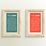 Classis frame set on the wall Royalty Free Stock Photo
