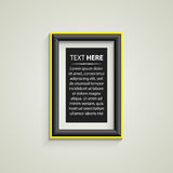 Classis frame on the wall Royalty Free Stock Photography