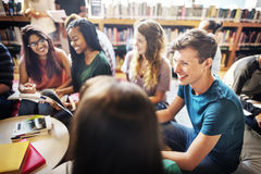 Classmate Classroom Sharing International Friend Concept stock images