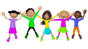 Classmates, friends, happy children Royalty Free Stock Photo
