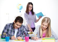 Classmates at lesson Royalty Free Stock Photos