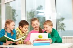 Classmates in school Royalty Free Stock Image
