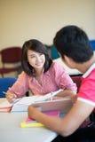 Classmates in university Royalty Free Stock Photography
