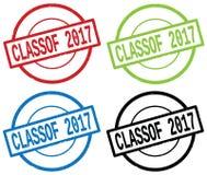 CLASSOF 2017 tekst na round prostym znaczka znaku, Fotografia Royalty Free