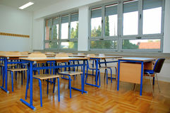Classroom. Clasroom waiting new students in new school royalty free stock images