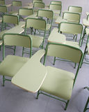 Classroom. Empty classroom with green chairs Stock Images