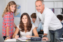 In classroom Stock Image