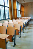Classroom. An empty classroom with chairs Royalty Free Stock Photos