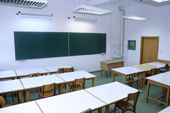 Classroom. Photo of Classroom with desk Stock Photography