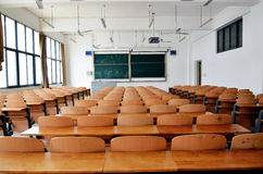 Classroom. Of a university in china stock photos