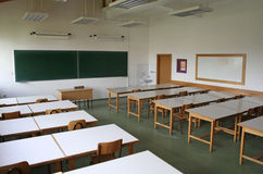 Classroom 2. Classroom with desk Royalty Free Stock Images