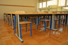 Classroom 2. Clasroom waiting new students in new school royalty free stock photos