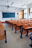Classroom. Empty classroom of a college in china Stock Image