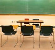 Classroom. An empty classroom with blackboard Stock Photography