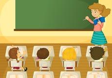 Classroom. Illustration of a classroom scene Stock Photo