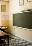 Classroom. And the blackboard from a high school Stock Images