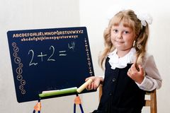 Classroom. An image of little girl in classroom Stock Images