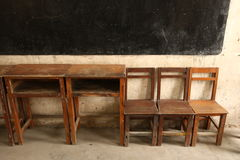 Classroom. A very old classroom with some chair Royalty Free Stock Image
