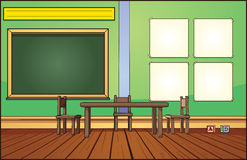 Classroom background. Vector clip art illustration with simple gradients. Elements on separate layers for easy editing Royalty Free Stock Image