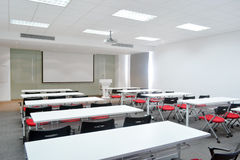 Classroom. Big classroom with modern decoration royalty free stock photos