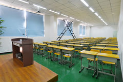 Classroom. Big classroom with modern decoration Royalty Free Stock Image