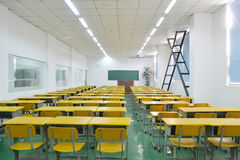 Classroom. Big classroom with modern decoration Stock Photo