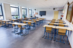 Classroom for biology lesson on high school Stock Images
