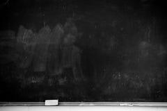 Classroom blackboard. Classroom and blackboard eraser partial close Stock Image