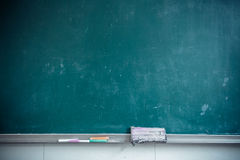 Classroom blackboard partial close. Partial close-school classroom blackboard Royalty Free Stock Image