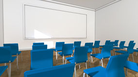 Classroom and blackboard Stock Photo