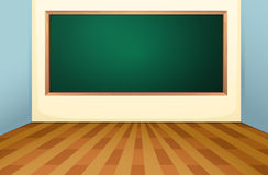 Classroom and board stock illustration