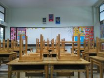 In the classroom. Chair in the classroom royalty free stock photo