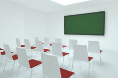 Classroom chairs chalkboard Royalty Free Stock Photos