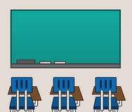 Classroom Chalkboard Blank Royalty Free Stock Photography
