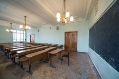 Classroom with chandeliers Royalty Free Stock Photography