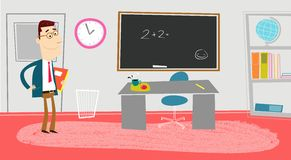 Classroom royalty free illustration