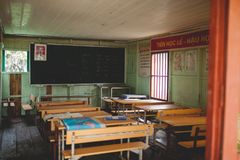 Classroom. Children's Classroom in a small village of Vietnam Royalty Free Stock Photography