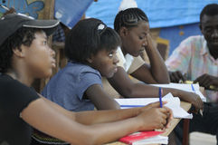 A classroom in Cite Soleil- Haiti. Royalty Free Stock Image