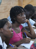 A classroom in Cite Soleil- Haiti. Royalty Free Stock Photography