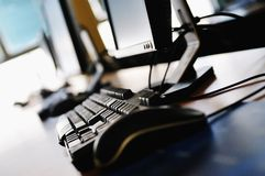 Classroom computer Royalty Free Stock Images
