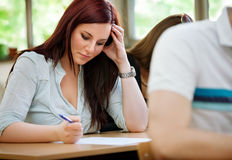 Classroom concentration Royalty Free Stock Photography