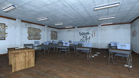 Classroom. 3D CG rendering of a classroom Royalty Free Stock Photo
