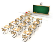Classroom 3d illustration Royalty Free Stock Photo