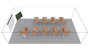 Classroom. 3d render isolated on white background Stock Images