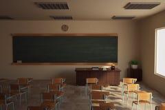 Classroom. 3D render of school classroom Royalty Free Stock Image