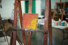 Artistic equipment:artist easels royalty free stock photography