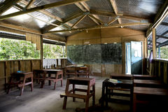 Classroom elementary school, Solomon Islands Royalty Free Stock Images