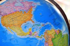 Classroom globes. Closeup of a Classroom globes Royalty Free Stock Image