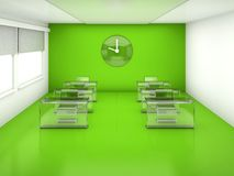 Classroom  green interior Stock Photos