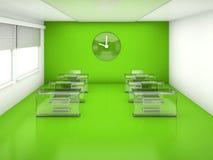 Classroom  green interior Stock Photos